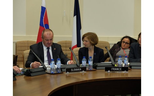 Meeting with Peter Gajdos, Defence minister of Slovakia