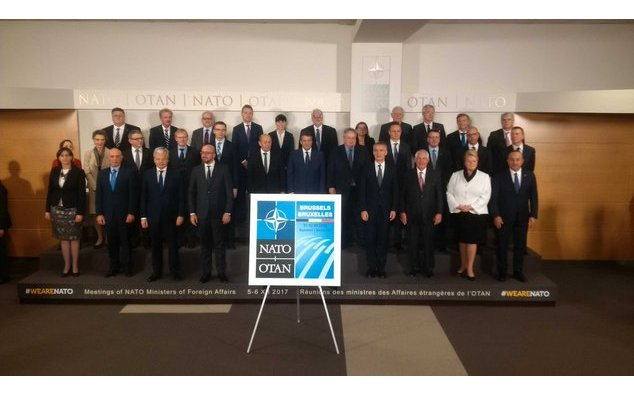 Family photo of NATO ministers of Foreign affairs