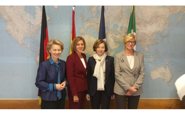 Working lunch with the defence ministers of Germany, Spain and Italy